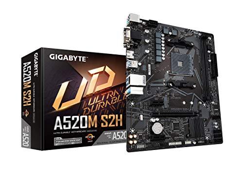 Gigabyte A520M S2H (AMD Ryzen AM4/MicroATX/4+3 Phases Digital PWM/Gigabyte Gaming GbE LAN/NVMe PCIe 3.0 x4 M.2/3 Display Interfaces/Q-Flash Plus/RGB Fusion 2.0/Motherboard)