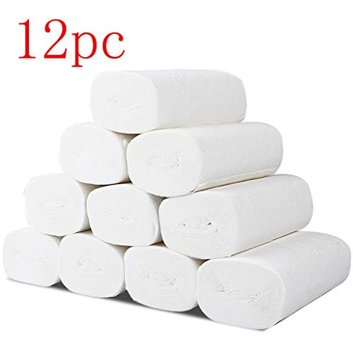 Cheapest Price! VSSAA Paper Towels,Soft Toilet Paper White Paper Towels Three Layers White Paper Tow...