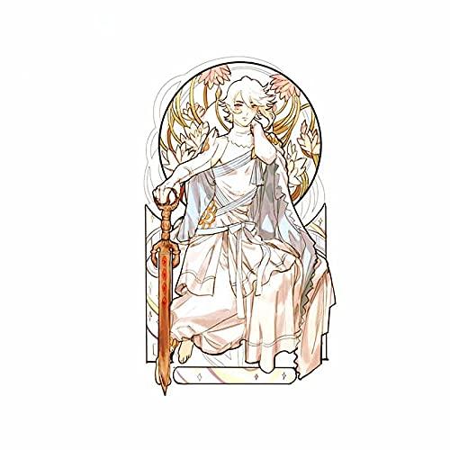 A/X 13 cm 7,5 cm para la religión Ángel en el Trono oclusión arañazos Pegatinas de Coche calcomanía de Personalidad para Nevera de Tabla de Surf