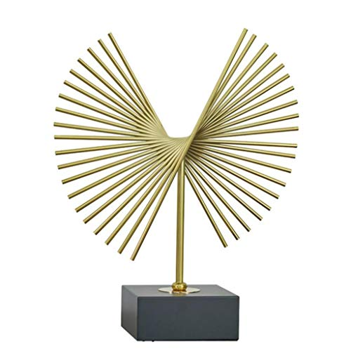 JTDSQDC Decorazioni for la casa, Accessori creativi Regalo, Geometriche sculture a Forma di ventaglio, Artigianato di Metallo, Due Dimensioni, Adatte for Lo Studio, L'Ufficio