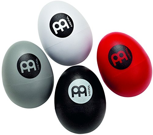 Meinl Egg Shaker Pack (4 Pieces) for All Musicians with Soft to Extra Loud Volume Levels — NOT MADE IN CHINA — Durable All-weather Synthetic Shells, 2-YEAR WARRANTY, ES-SET, for Live or Studio Use