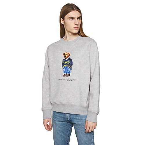 Polo Ralph Lauren Sudadera para Hombre con Polo Bear (L, Andover Grey)