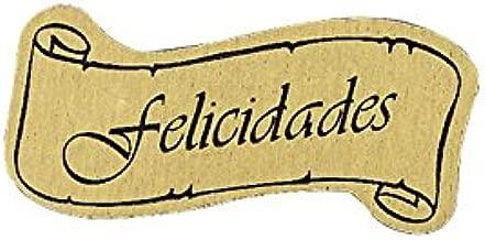 Etiqueta adhesivas Felicidades PF005