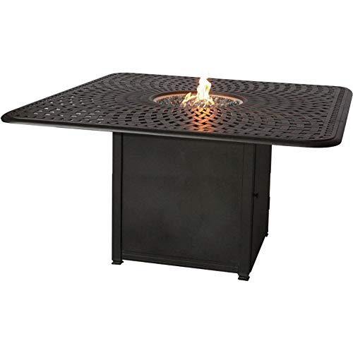 Big Sale Darlee Counter Height Propane Fire Pit Dining Table - Antique Bronze