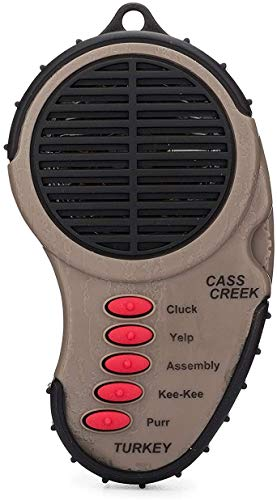 Cass Creek Ergo Turkey Call, CC969, Handheld Electronic Game Call, Compact Design, 5 Calls In 1, Expert Calls for Everyone