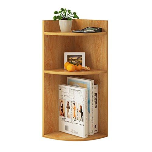 Étagère de bureau de coin en bois 3 niveaux personnalisés support de stockage d'étagère pour l'étude de chambre à coucher de salon (taille: 24 * 24 * 60cm) (Couleur : #1)