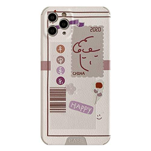Funda telefónica, Silicone Bumper Compatible con iPhone11Pro / 7 / 8Plus Shell, 4 ángulos duraderos a Prueba de Golpes, Regalo de Pareja para niña Linda A-iPhone Xsmax