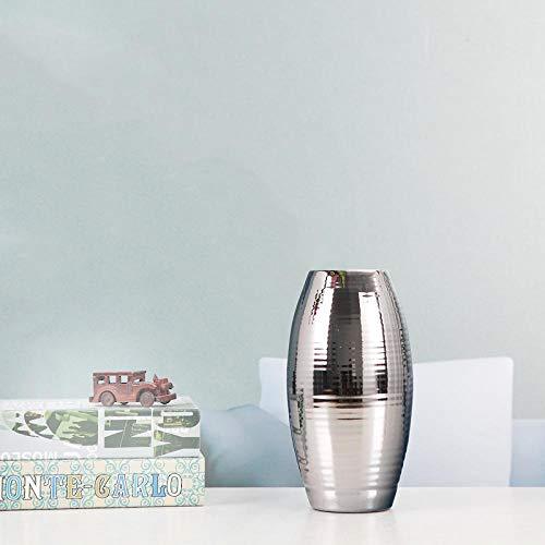 Vase Hauptschrank Esstisch Wohnzimmer Dekoration Möbel Licht Home Weiche Verarbeitung Kunst Silber Vase 22Cm