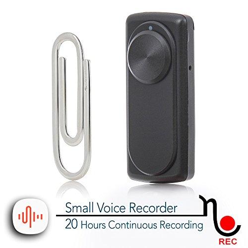 Mini grabadora de voz portátil para clases, reuniones; Compatible con USB PC y Mac; Memoria interna: 8GB /141 horas de grabación; Batería recargable: 20 horas de grabación continua