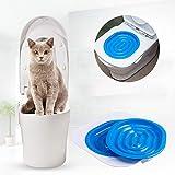 YOHAPPY Kit de Toilette pour Chat 40 x 40 x 3,5 cm ABS pour Apprendre à Votre Chat à Utiliser Les Toilettes pour Chat, Chaton