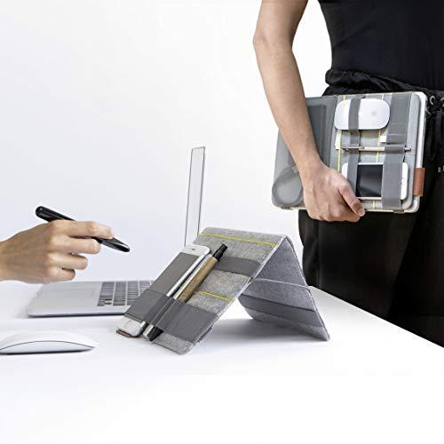 Beblau - Organizador portátil plegable acoplable a tus dispositivos, organizador de escritorio acoplable a la computadora portátil, organizador personal