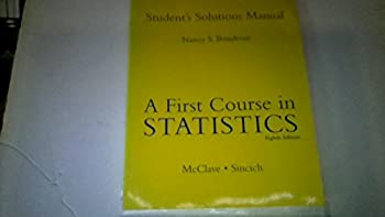 First Course in Statistics: Student's Solutions Manual 0130674184 Book Cover