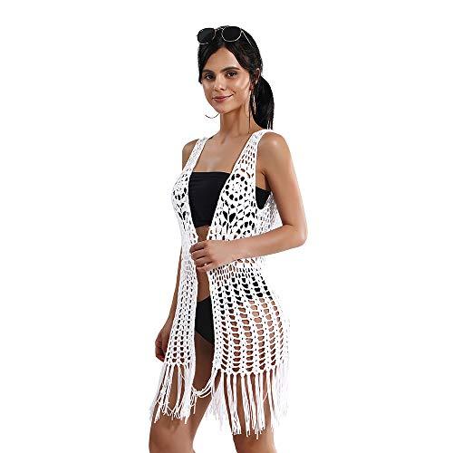 BOKAMODA Strandkleid für Damen, Sommer, Bademode, Badeanzug, Weiß