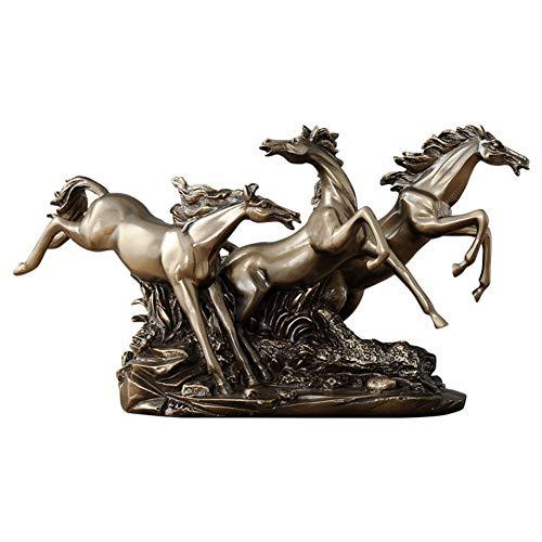 Usado, LYCIL Caballo De Running Resina Escultura,Bronce Fundido segunda mano  Se entrega en toda España