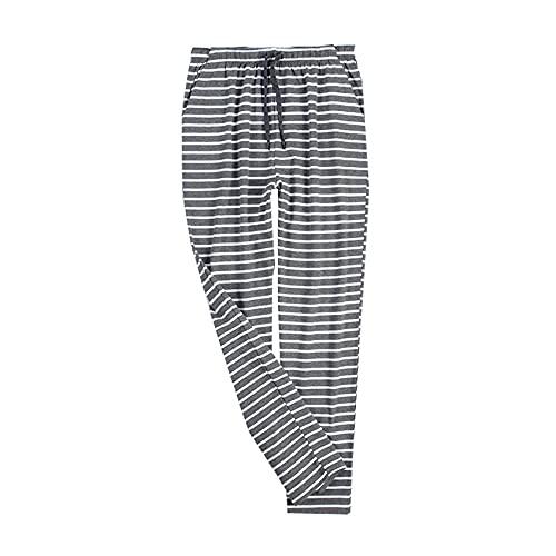 WAEKQIANG Pijamas De AlgodN para Hombres, Pantalones De Casa para Hombres, Pantalones De Casa, Pijamas Deportivos Sueltos De Primavera Y OtoO, Se Pueden Usar Fuera De Los Pantalones De La Casa.