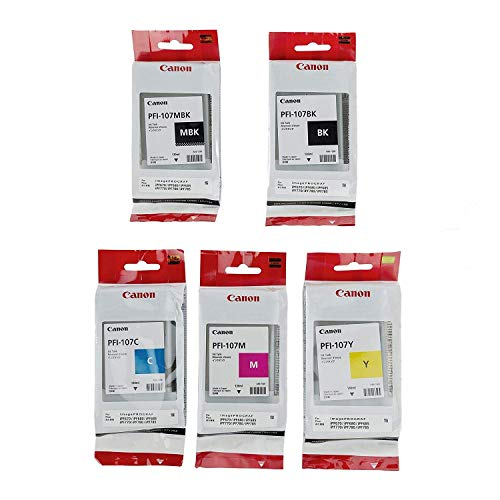 Canon PFI-107 130ml Ink Tank Complete Set for iPF680, 685, 780, 785 Printers