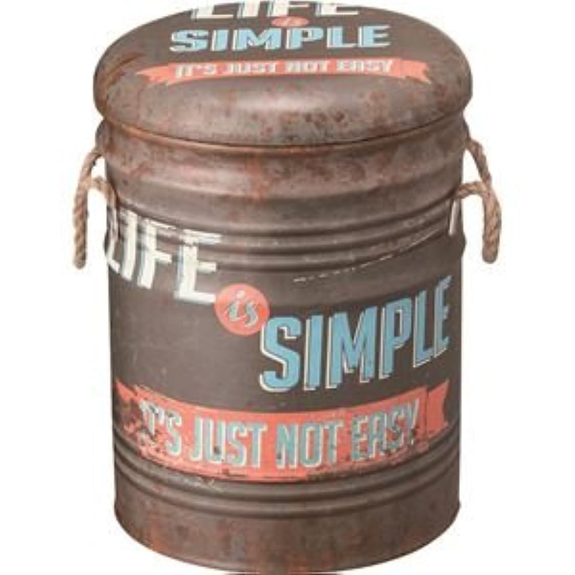 ロッド新着変なペール缶スツール(収納付きスツール) スチール (インテリア家具) JAM-231B