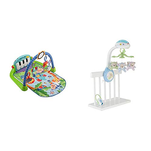 Fisher-Price Rainforest Piano-Gym - Manta de Juego parBebé (Mattel BMH49) + Móvil...