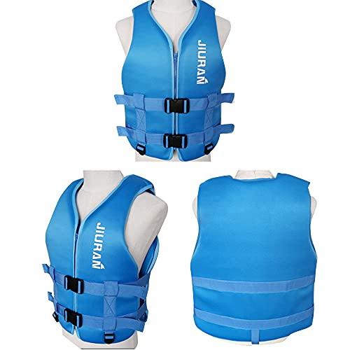 Bolange Chaleco Salvavidas, Chaleco de Pesca Ajustable para Adultos y niños, Chaleco Salvavidas Flotante de Neopreno, Chaleco de Ayuda a la flotabilidad para Nadar Pesca Surf Buceo Kayak