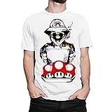 Mario x Fear and Loathing in Las Vegas Art T-Shirt, Men's White M