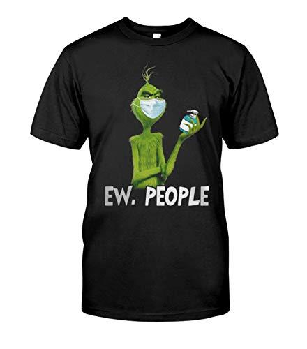 Grinch Face Mask Ew People Corona-Virus Shirt