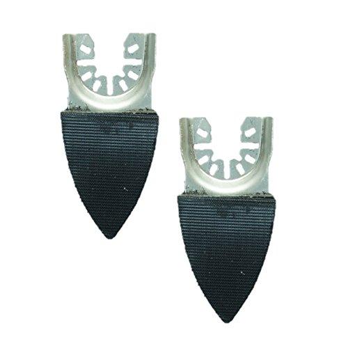 2 x TopsTools FAFSP_2 50mm x 35mm pequeño dedo almohadillas de lijado para Dewalt Stanley Black and Decker Bosch Fein (No-StarLock) Makita Milwaukee Parkside Ryobi Worx Multi herramienta accesorios