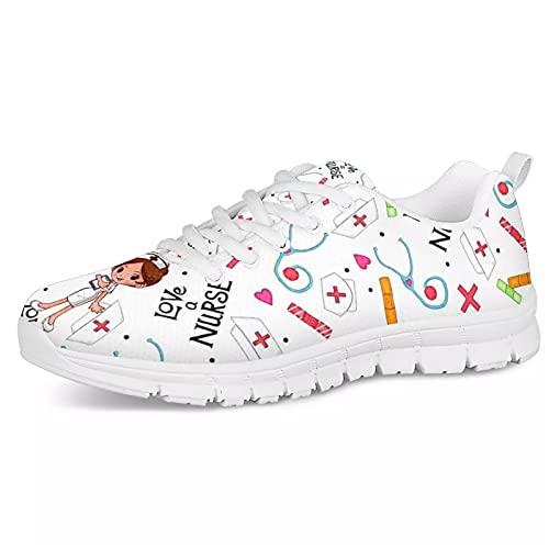 Belidome Nurse Tools Zapatillas de Deporte para Mujeres, niñas, Deportes, Caminar, Correr,...