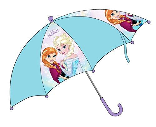 Paraplu kinderen meisjes ijskoningin Elsa en Anna, blauw/paars, 76 cm