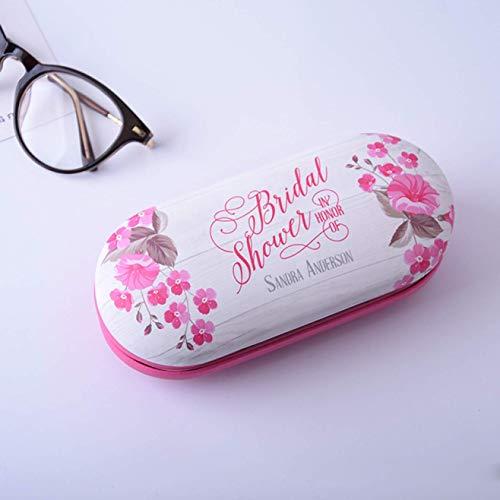 Aohua Nützlich China Wind Brille Box Blumen Druck Handgefertigt Doppellagig Multifunktionale Schutzhülle Kontaktlinsen - Rosa, M