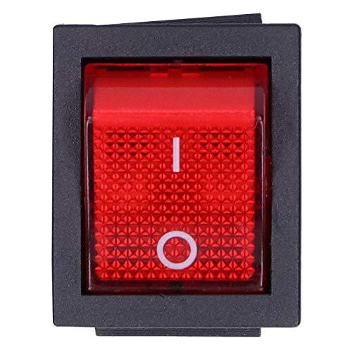 Interruptor de Encendido basculante, Interruptor de Encendido/Apagado de corrosión Fuerte de 15 A ABS/Hierro para Electricista para Servicio de electrodomésticos para TV