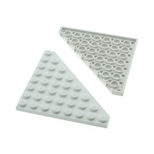 Preisvergleich Produktbild 2 x Lego System Flügel Bau Dreieck Platte weiss 8 x 8 Ecke 8x8 für Set Star Wars 75098 70736 41062 7893 10019 7470 5892 10231 30504