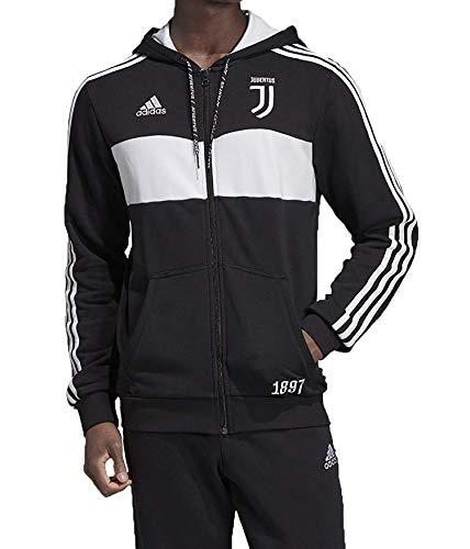 adidas Juventus Full Zip Sweatshirt mit Kapuze für Herren XL schwarz / weiß