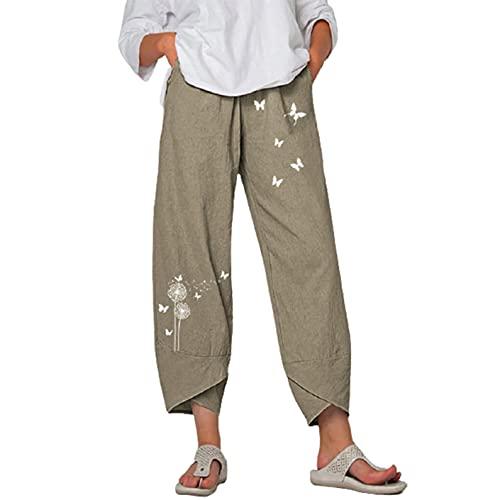 ANGLE Pantalones de pierna ancha para mujer, de moda, casual, holgados, pantalones de verano, de cintura alta, para correr, entrenamiento, yoga, etc