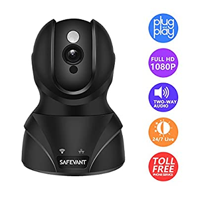 SAFEVANT 1080P HD WiFi IP Security Camera Wireless Security Camera System Home Monitor with Two-Way Audio Motion Detection Night Vision