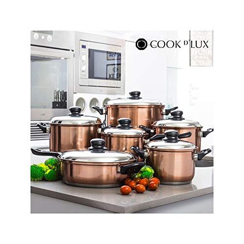 Batteria da Cucina Cook D\'Lux (12 pezzi) Pentole Acciaio Inox Design