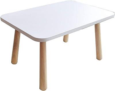 スモールテーブルローテーブルサイドテーブルシンプルソリッドウッド製テーブル畳式ローテーブルクリエイティブバルコニー出窓テーブル白窓テーブルティーテーブル ローテーブル・ちゃぶ台 (Color : 白, Size : 60*40*33cm)