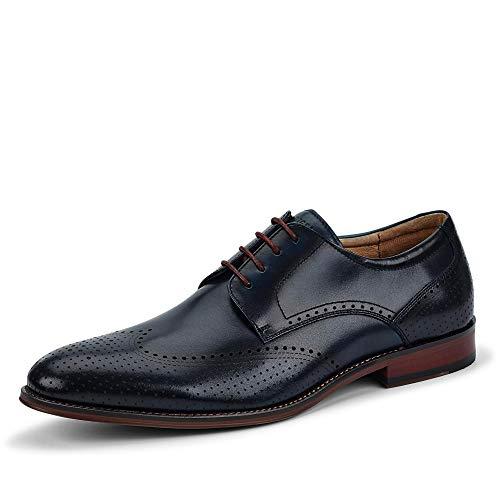 DIGEL 1001923 30 eleganter Herren Schnürschuh aus Glattleder mit Lederfutter, Groesse 45, dunkelblau
