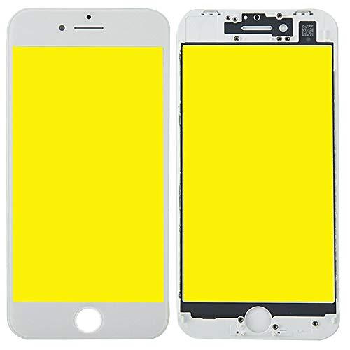 Display Glas für Apple iPhone 8 4.7 Displayglas LCD + Rahmen + OCA Kleber Ersatzteil Weiß