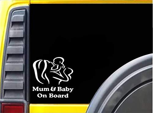 18 * 12 Cm Mama Und Baby An Bord Auto Aufkleber Kreative Figur Umriss Fensteraufkleber Auto Styling