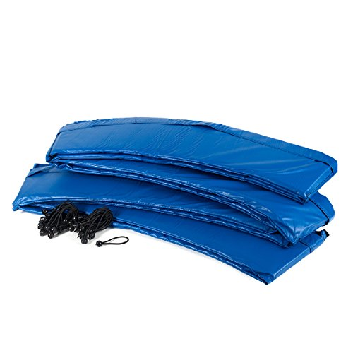 Ampel 24 Trampolin Randabdeckung, passend für Trampolin Ø 305 cm, Federabdeckung reißfest und beständig, Schutzrand blau