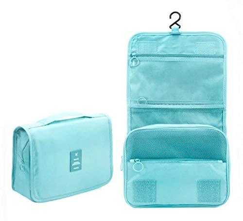 Maquillaje Organizador/Bolso cosmético/hogar Almacenamiento Paquete/baño con Colgantes Vacaciones con el Gancho Colgante(Blue)