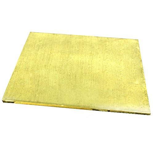 Asitlf Brass Sheet H62 Koper van Cu metalen plaat voor Frame Model Mold DIY Crafts, Dikte 2mm,200x300mm