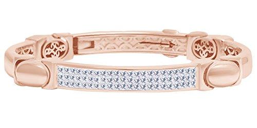 Bracciale rigido da uomo con diamanti naturali a forma di principessa in oro massiccio 14 ct (3,50 cttw) e Oro giallo, colore: Giallo, cod. MNo-UK-CMB32882-YG-8.5