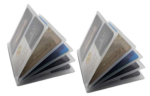 Set of 2 Clear Premium Quality Bifold Wallet Trifold Wallet and CheckBook 6 Page Inserts from AG Wallets (Hipster 6 Page)