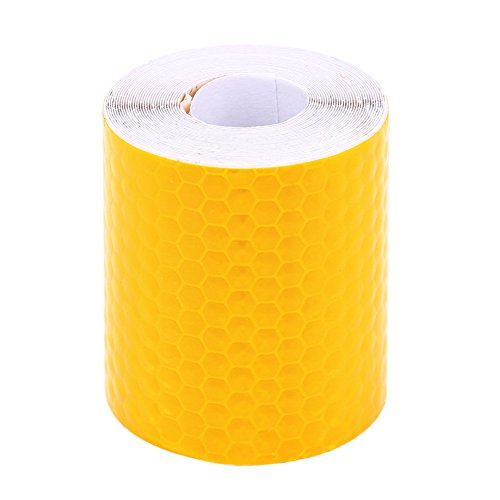 Everpert Hochwertiges Reflektorband zum Aufkleben & zuschneiden - Wetterfestes Reflektionsband - Warnklebeband reflektierend & selbstklebend- Sicherheit zur Markierung - Reflektierendes Klebeband