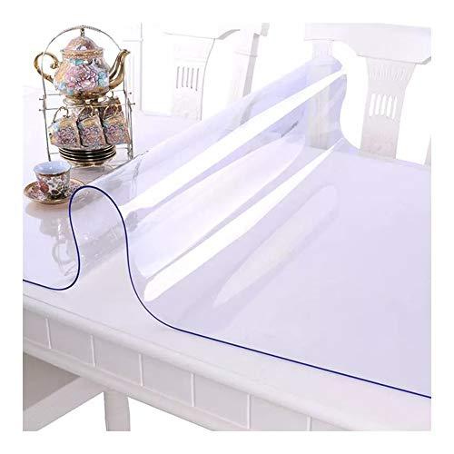 Protector Transparente XJJUN Mantel Transparente, Mantel De PVC Impermeable Y A Prueba De Aceite, Cojín De Mesa De Centro, Cojín De Goma De Película De Cristal De Vidrio Suave