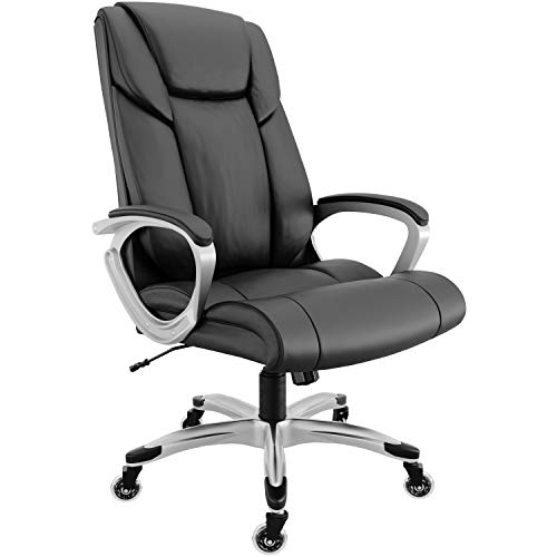 RIF6 Executive Chair with Superior Inline Skate Caster Wheels – Heavy Duty Office Chair with Premium Gas Lift – Comfortable High Back Bonded Leather Gaming Chair with Tilt and Seat Height Adjustment