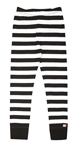 Katvig Kinder Leggings aus Bio-Baumwolle gestreift, Größe:122, Farbe:schwarz/weiß