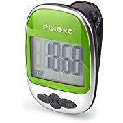 PINGKO Walking Pedometer Accurately Track Steps Portable Sport Pedometer Step/distance/calories/ Counter Fitness Tracker, Calorie Counter-Green
