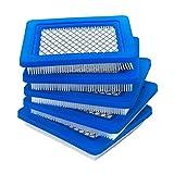 Filtro de aire para cortacésped 5 Paquete 491588S Filtro de aire compatible con Briggs Compatible con Stratton 491588 Compatible con Toro 20332 Compatible con Craftsman 3364 Compatible con Premium Law